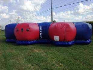 Mobile 8 player LiteBlast Phasers/Vest and Inflatable Arena for sale