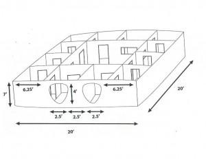 Laser Tag Arena Diagram